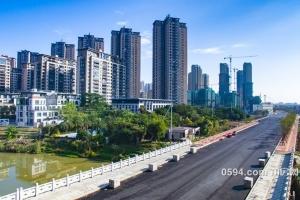 航拍玉湖,滨溪北路、正荣府、滨溪公园新貌