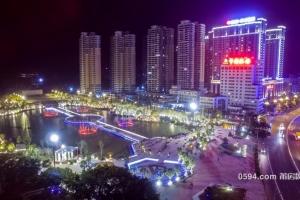 超级网红:航拍南湖公园夜景、莆田城心明珠