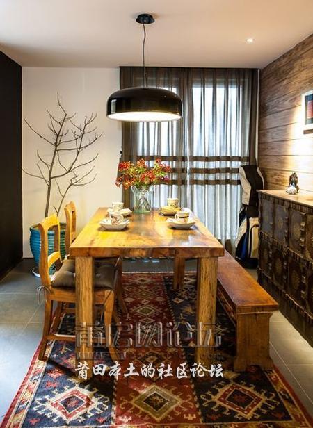 都市森林系自然风 百平4室2厅原木生活空间