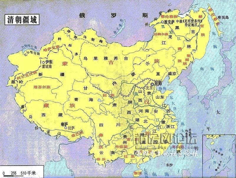 清朝庆阳地区地图