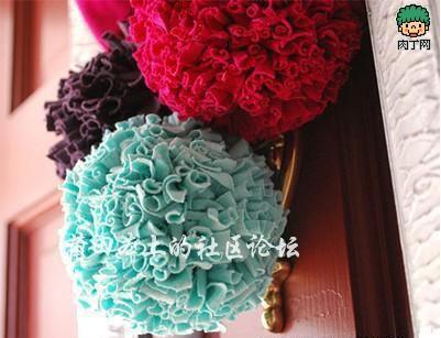 教你diy布艺绣球装饰花的制作方法图解