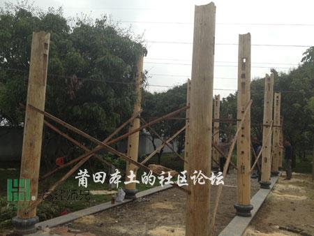 看绶溪公园木结构自行车棚