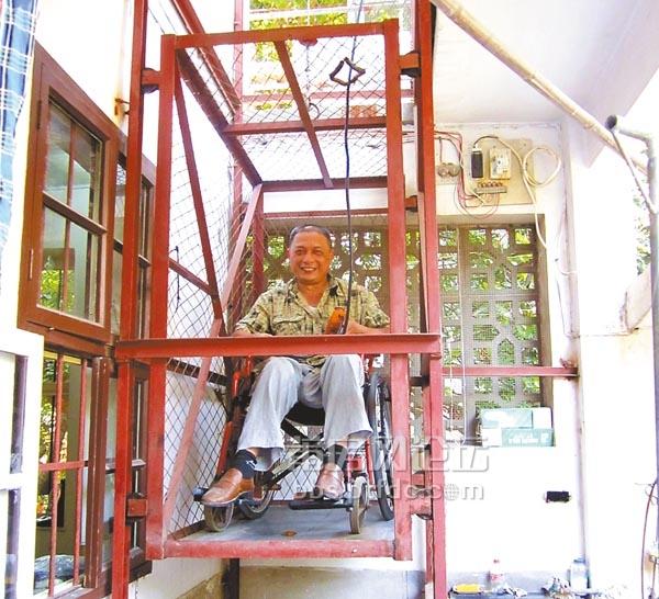 莆田励志大叔!双腿残疾,三层楼房diy自动电梯
