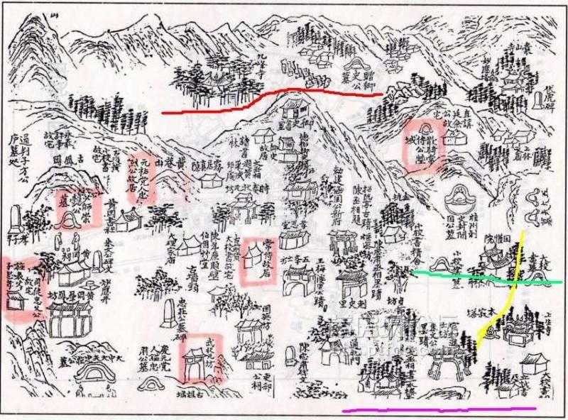 唐朝末年的涵江城区地图
