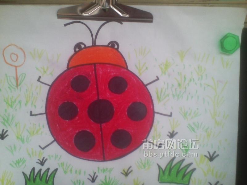 幼儿园放假啦,孩子这学期学画画的一些作品
