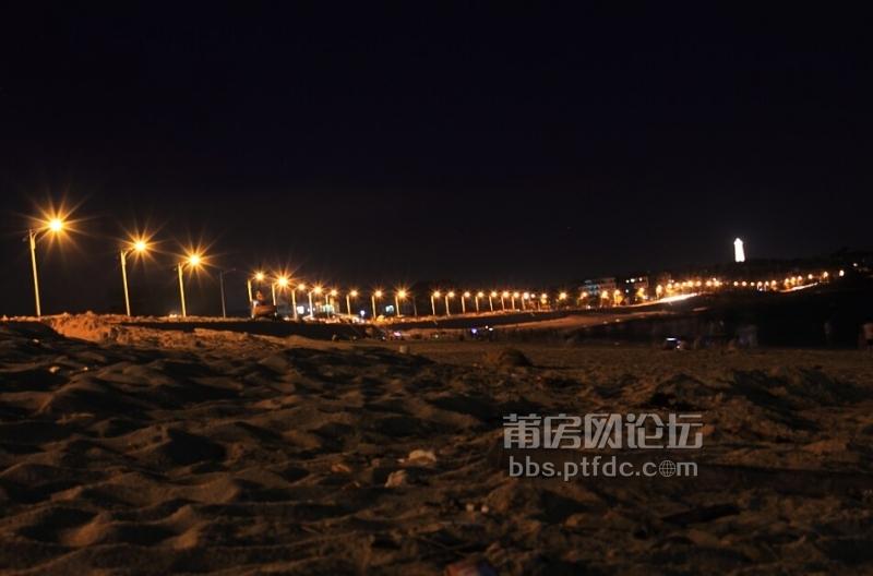"""湄洲岛""""莲池沙滩""""夜景"""