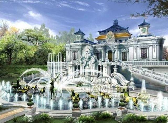 圆明园复原图之 大水法.是西洋楼最壮观的喷泉.