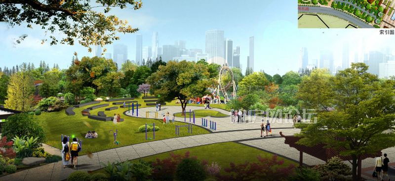楼盘动态:万星幸福城,幸福公园项目均已动工图片