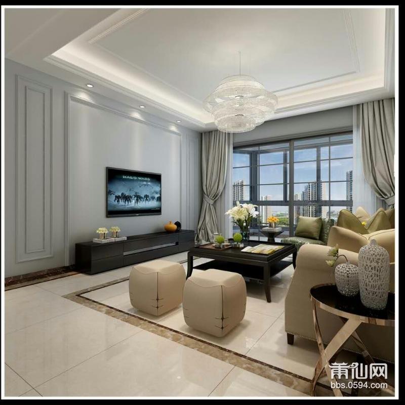 大厅:电视背景