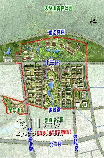 55亩,包括传统建筑文化主题公园,仙游美食街,儿童公园,高尚住宅区及梦