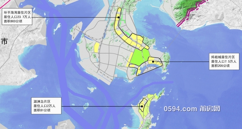 莆田城区人口最新规划出炉,木兰溪南岸17万人!