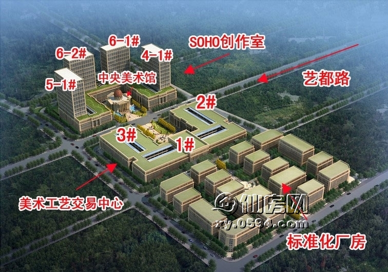项目总建筑面积35万平方米,总投资18亿元,包括美术工艺品制作中心