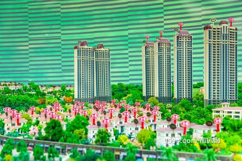 小区印象:莆田恒大御景半岛园林实拍图