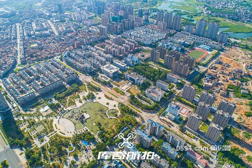 航拍秀嶼新中心 600畝東津綜合體、假日酒店