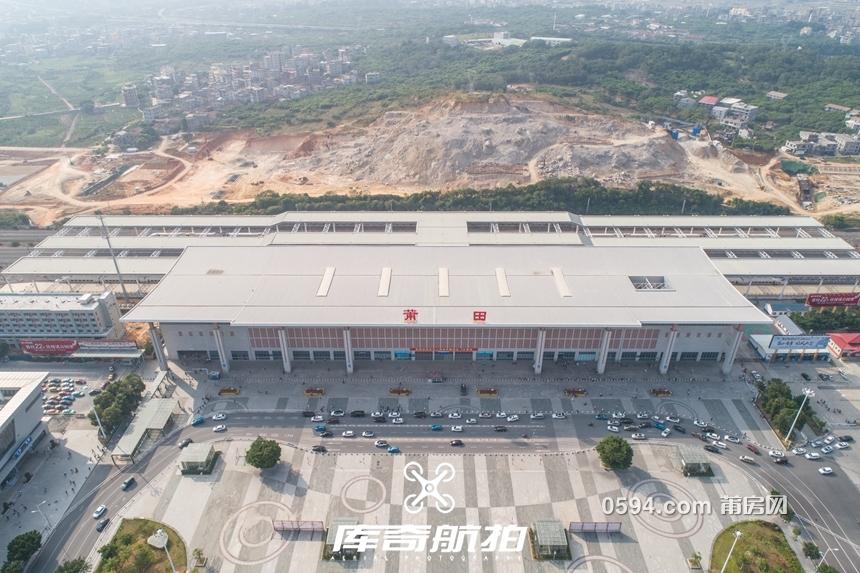 航拍:莆田火车站北广场、新高铁工程进度