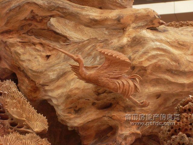 木雕丹顶鹤图片大全