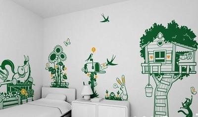 欣赏:超牛的25款diy客厅手绘墙