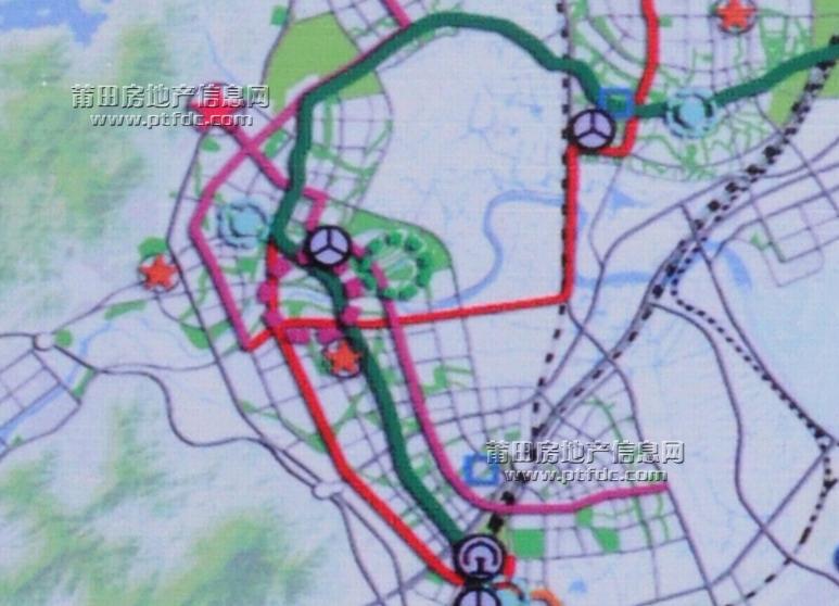 首发:莆田城市轻轨规划线路图,江口经涵江,莆田至秀屿